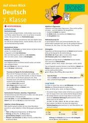 PONS Deutsch 7. Klasse auf einen Blick