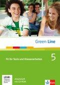 Green Line, Neue Ausgabe für Gymnasien: Fit für Tests und Klassenarbeiten, m. CD-ROM/Audio-CD; Bd.5