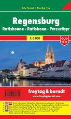Freytag & Berndt Stadtplan Regensburg; Ratisbonne; Ratisbona