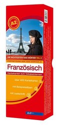 Die wichtigsten 1000 Wörter Französisch A2, Karteikarten m. Lernbox