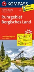Kompass Fahrradkarte Ruhrgebiet, Bergisches Land