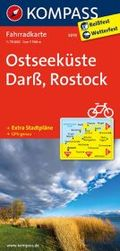 KOMPASS Fahrradkarte Ostseeküste, Darß, Rostock