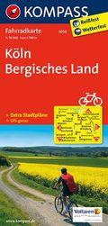 KOMPASS Fahrradkarte Köln - Bergisches Land