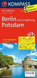 Kompass Fahrradkarte Berlin und Umgebung, Potsdam