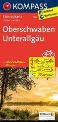 Kompass Fahrradkarte Oberschwaben, Unterallgäu