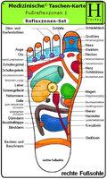 Reflexzonen Set, 3 Medizinische Taschen-Karten