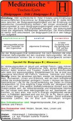 Blutgruppen-Diät - Blutgruppe B, Medizinische Taschen-Karte
