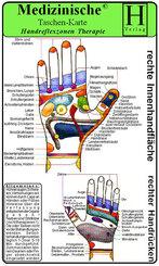 Handreflexzonen Therapie, Medizinische Taschen-Karte