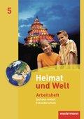 Heimat und Welt, Ausgabe 2010 Sachsen-Anhalt: 5. Schuljahr, Arbeitsheft