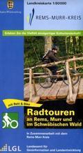 Topographische Landkreiskarte Baden-Württemberg Rems-Murr-Kreis