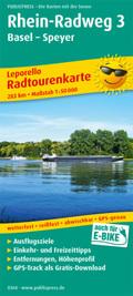 PublicPress Leporello Radwanderkarte Rhein-Radweg, 28 Teilktn. - Tl.3