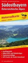 PublicPress Motorradkarte Südostbayern - Österreichische Alpen