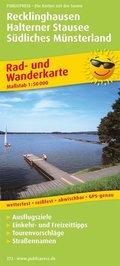 PublicPress Rad- und Wanderkarte Recklinghausen - Halterner Stausee - Südliches Münsterland