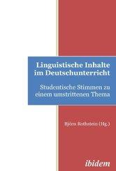 Lingustische Inhalte im Deutschunterricht