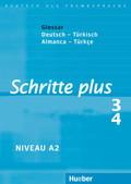 Schritte plus - Deutsch als Fremdsprache: Glossar Deutsch-Türkisch; Bd.3/4