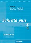 Schritte plus - Deutsch als Fremdsprache: Glossar Deutsch-Serbisch; Bd.3/4