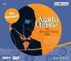 Acht Hercule Poirot Krimis, 4 Audio-CDs