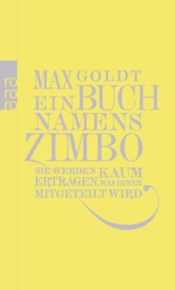 Max Goldt - Ein Buch namens Zimbo