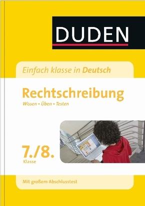 Duden Einfach klasse in Deutsch, Rechtschreibung 7./8. Klasse