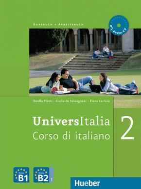 UniversItalia Kursbuch + Arbeitsbuch, m. 1 Audio-CD