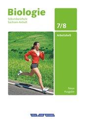 Biologie, Sekundarschule Sachsen-Anhalt, Neue Ausgabe: 7./8. Schuljahr, Arbeitsheft