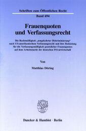 Frauenquoten und Verfassungsrecht.