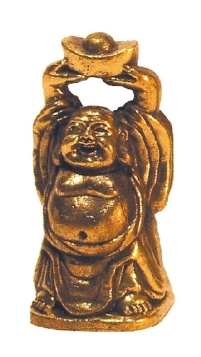 Buddha lachend Messing 3 cm