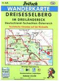 Fritsch Karte - Dreisesselberg im Dreiländereck Deutschland-Tschechien-Österreich
