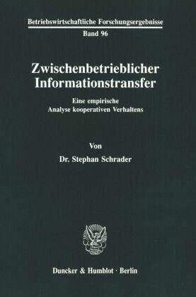 Zwischenbetrieblicher Informationstransfer.
