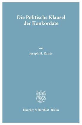 Die Politische Klausel der Konkordate.