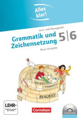 Alles klar!, Sekundarstufe I, Neue Ausgabe: 5./6. Schuljahr, Grammatik und Zeichensetzung, m. CD-ROM