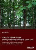 Effects of climate change on the profitability of carbon credit sales