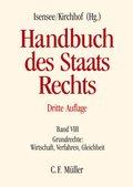 Handbuch des Staatsrechts der Bundesrepublik Deutschland: Grundrechte: Wirtschaft, Verfahren, Gleichheit; Bd.8