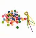 44 Perlen mit 3 Bändern