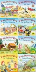 Pixi Bücher: Meine Sticker-Pixis; Serie.199 (64 Expl. (8 Titel))