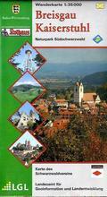 Topographische Wanderkarte Baden-Württemberg Breisgau-Kaiserstuhl