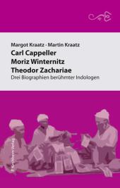 Carl Cappeller - Moriz Winternitz - Theodor Zachariae