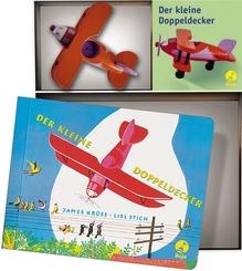 Der kleine Doppeldecker (Bilderbuch + Holzspielzeug)