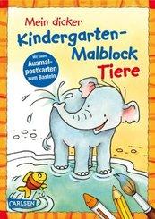 Mein dicker Kindergarten-Malblock Tiere