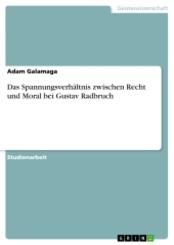 Das Spannungsverhältnis zwischen Recht und Moral bei Gustav Radbruch