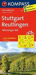 Kompass Fahrradkarte Stuttgart - Reutlingen - Münsinger Alb