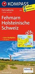 Kompass Fahrradkarte Fehmarn, Holsteinische Schweiz