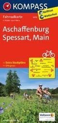 Kompass Fahrradkarte Aschaffenburg - Spessart - Main
