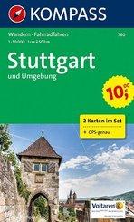 KOMPASS Wanderkarte Stuttgart und Umgebung