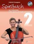 Cello spielen mit Spaß und Fantasie, Spielbuch zur Celloschule für 1-3 Violoncelli, teilweise mit Klavier, m. Audio-CD - Bd.2