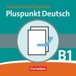 Pluspunkt Deutsch, Ausgabe 2009: Kursbuch + Arbeitsbuch, m. 2 Audio-CDs (Gesamtband Lektion 1-14), 2 Tle.; Bd.B1