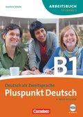Pluspunkt Deutsch, Ausgabe 2009: Arbeitsbuch (Lektion 8-14), m. Audio-CD; Bd.B1/2
