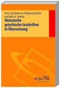 Historische griechische Inschriften in Übersetzung, 3 Bde.