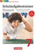 Deutschbuch, Realschule Bayern: 7. Jahrgangsstufe, Schulaufgabentrainer