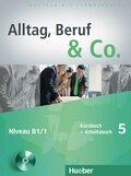 Alltag, Beruf & Co.: Kursbuch + Arbeitsbuch, m. Audio-CD zum Arbeitsbuch; Bd.5